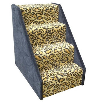 Animal Stuff DSTAIRS4BL Bear Stairs 4 Step Dog Steps - Blue