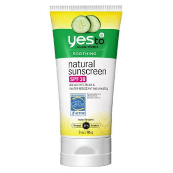 Yes To Yes to Cucumbers Natural Sunscreen SPF 30 - 3 oz