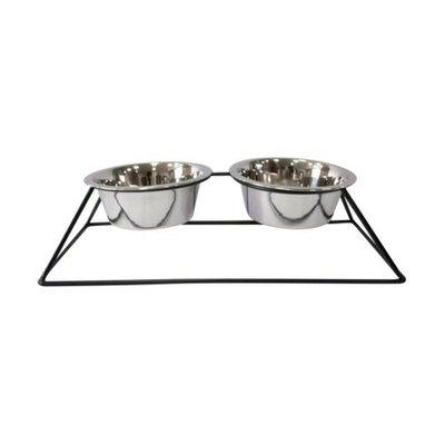 Boots & Barkley Dog Feeding Bowl Set With Iron Stand