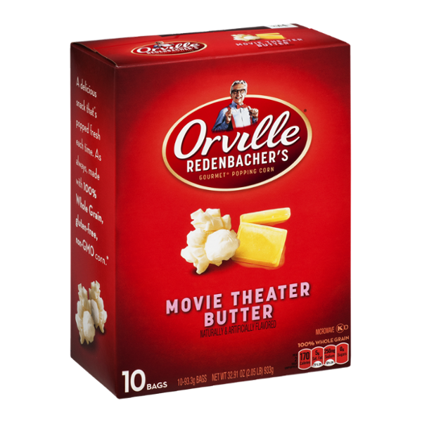 Orville Redenbacher's Gourmet Popping Corn Movie Theater Butter - 10 CT