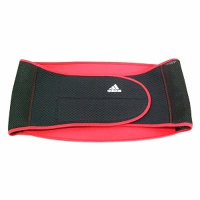adidas Lumbar Support, Large to X Large, Red and Black, 1 ea