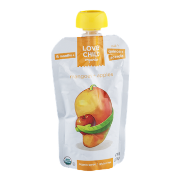 Love Child Organics Puree Mangoes + Apples
