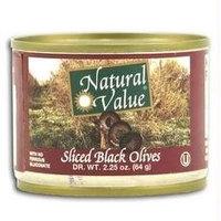 Natural Value Ripe Sliced Black Olives (24x24/2.25 Oz)