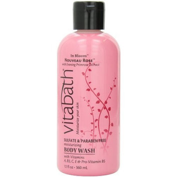Vitabath Bath and Shower Gel, Nouveau Rose, 12 Ounce