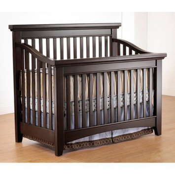 C And T International Inc Lusso Nursery Seville 4-in-1 Crib with Mini Rail