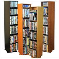 Venture Horizon CD/DVD Revolving Media Tower-Oak