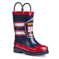 Washington Shoe Company Toddler Boy's Fireman Rain Boot - Navy M (9-10)