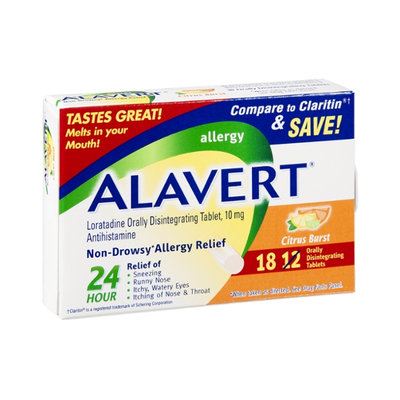 Alavert Non-Drowsy Allergy Relief Citrus Burst Orally Disintegrating Tablets - 10mg