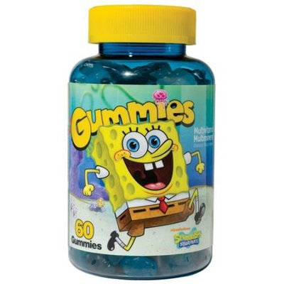 SpongeBob SquarePants Multivitamin/Multimineral Dietary Supplement Gummies, 60 count