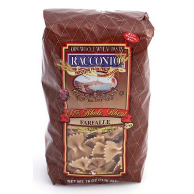 Racconto Whole Wheat Farfalle/Bow Ties, 16-Ounce Packages (Pack of 12)