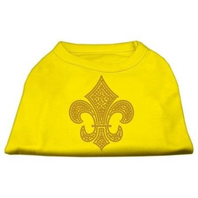 Ahi Gold Fleur de Lis Rhinestone Shirts Yellow XL (16)