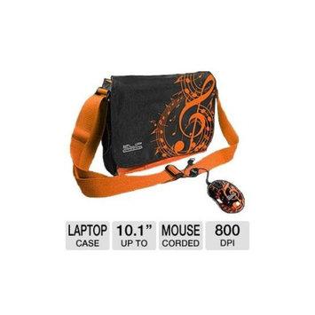 Klip Xtreme KBU-3501O HIPSTER Case and Mouse Bundle - Fits Tablets or Netbooks up to 10.1