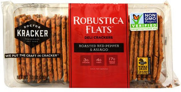 Doctor Kracker Robustica Flats Deli Crackers Roasted Red Pepper & Asiago 7 oz