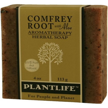 Plantlife Comfrey w/Aloe 100% Pure & Natural Aromatherapy Herbal Soap- 4 oz (113g)