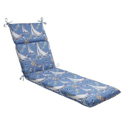 Pillow Perfect Outdoor Chaise Lounge Cushion - Set Sail