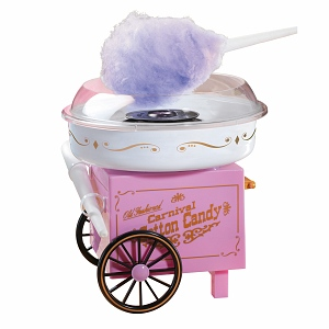 Nostalgia Electrics CCM905 Vintage Old Fashion Carnival Hard Sugar-Free Cotton Candy Maker