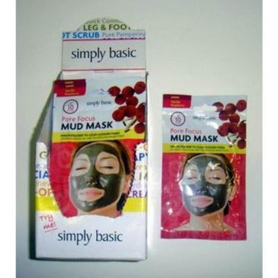 DDI Simply Basic Vanilla Raspberry Pore Focus Mud Mask - Case Pack 72 SKU-PAS697561