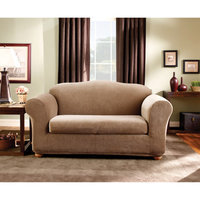Sure Fit Stretch Stripe 2-Piece Loveseat Slipcover Bedding