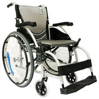 Karman 16 inch Aluminum Wheelchair with Fixed Armrests and Footrests