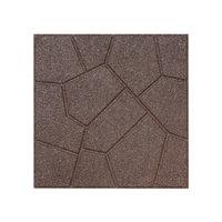 Rubberific 16-in x 16-in Brown Rubber Square Patio Stone (Actuals 16-in W x 16-in L) LPVBN