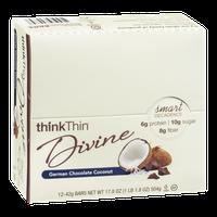 thinkThin Divine Bars German Chocolate Coconut