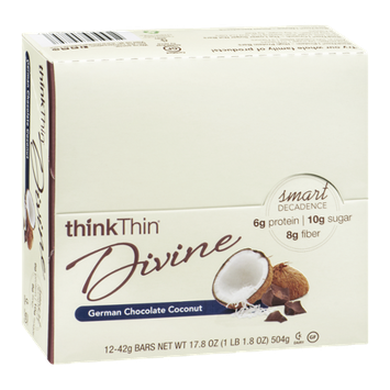 thinkThin Divine Bars German Chocolate Coconut - 12 CT