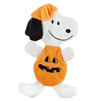 PeanutsA Flattie Snoopy Pumpkin Dog Toy