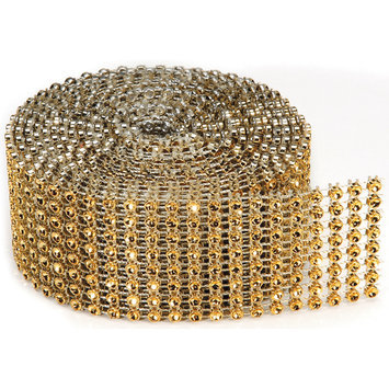 Darice Inc Bling On A Roll 3mm X 2yds 8 Row, Gold