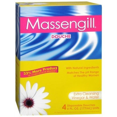 Massengill Disposable Douche 4 Pack-Extra Cleansing Vinegar & Water-6 oz