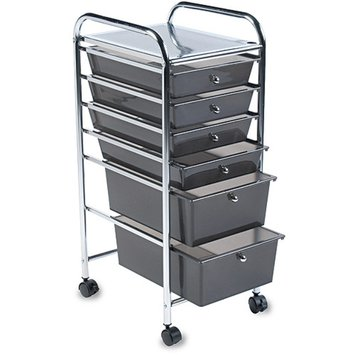 Advantus Cropper Hopper Home Center Rolling Cart-6 Drawer