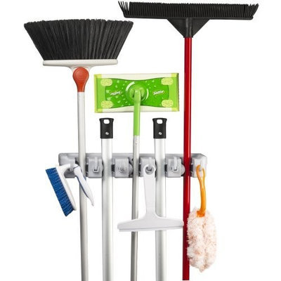 Spoga Mop, Broom and Sports Equipment Organizer Wall Mount