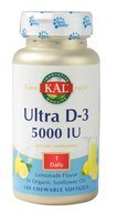 Kal Ultra D3 Lemonade 5000 IU - 120 Chewable Softgels