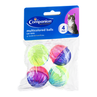 Companion Cat Toy Multicolored Balls - 4 CT