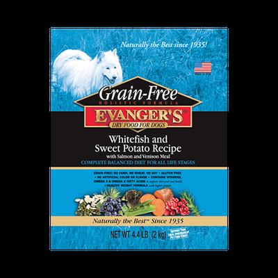Evanger's Grain Free Whitefish & Sweet Potato Dry Food