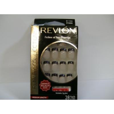 Revlon Runway Collection Glue on Nails Medium 28ct 91104 STUDIO