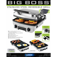 Big Boss Reversible Grill, Stainless Steel