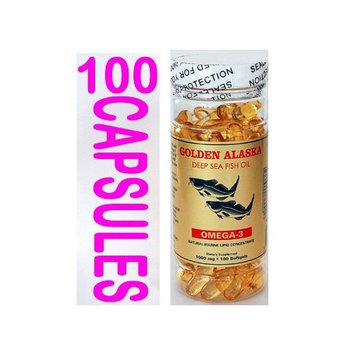 Golden Alaska Deep Sea Fish Oil Omega-3, 1000 Mg, 100 Capsules