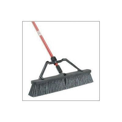LIBMAN 825 Push Broom w/Handle, Brace, Poly, Gray