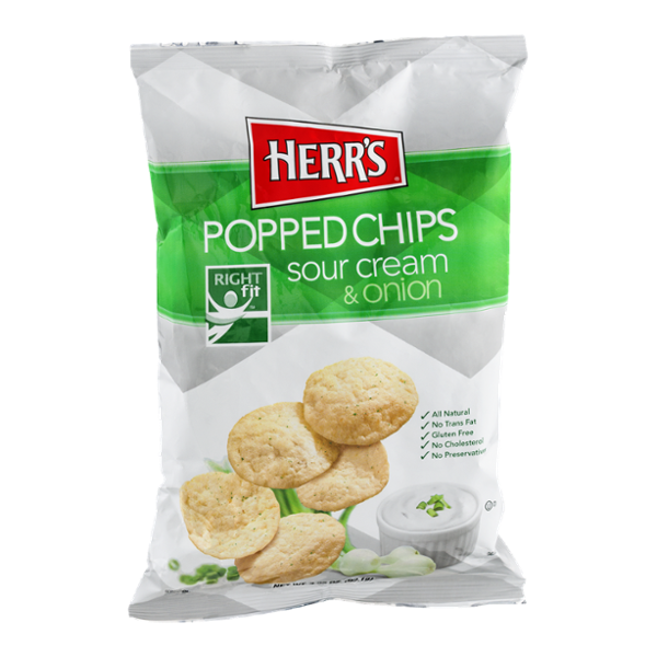 herr 39 s popped chips sour cream onion reviews find the best chips influenster. Black Bedroom Furniture Sets. Home Design Ideas