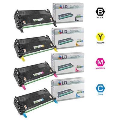 LD Remanufactured Dell 3130cn Toner Set of 4 Cartridges 1(Bk,C,M,Y)