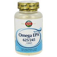 Kal - Omega EPA 625/245 Moleculary Distilled Fish Oil 1 Daily - 60 Softgels