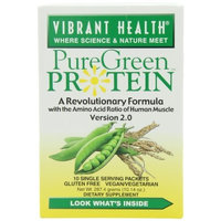 Vibrant Health - PureGreen Protein Natural Single Servings - 10 packets