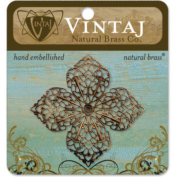 Vintaj 'Clover Petal Filigree' Metal Accent