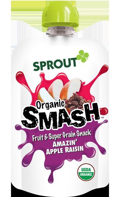 Sprout Organic SMASH Fruit & Super Grain Snack - Amazin' Apple Raisin