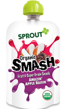 Sprout Organic SMASH Fruit & Super Grain Snack - Amazin' Apple Raisin
