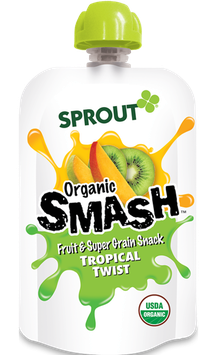 Sprout Organic SMASH Fruit & Super Grain Snack - Tropical Twist