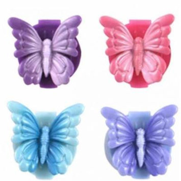 Butterfly Ring and Lip Gloss - Set of 4