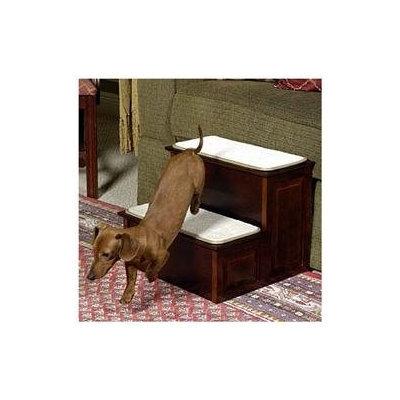 Mr. Herzher's Decorative Pet Steps - 2 Step - Warm Cherry