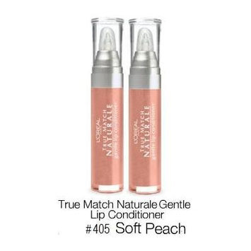 L'Oreal Bare Naturale Gentle Lip Conditioner #405 Soft Peach (Qty, of 2 Sealed Tubes)DISCONTINUED