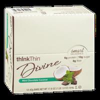 thinkThin Divine Bars Mint Chocolate Coconut